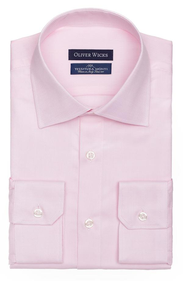 Salmon Two-Ply Cotton Royal Oxford Shirt