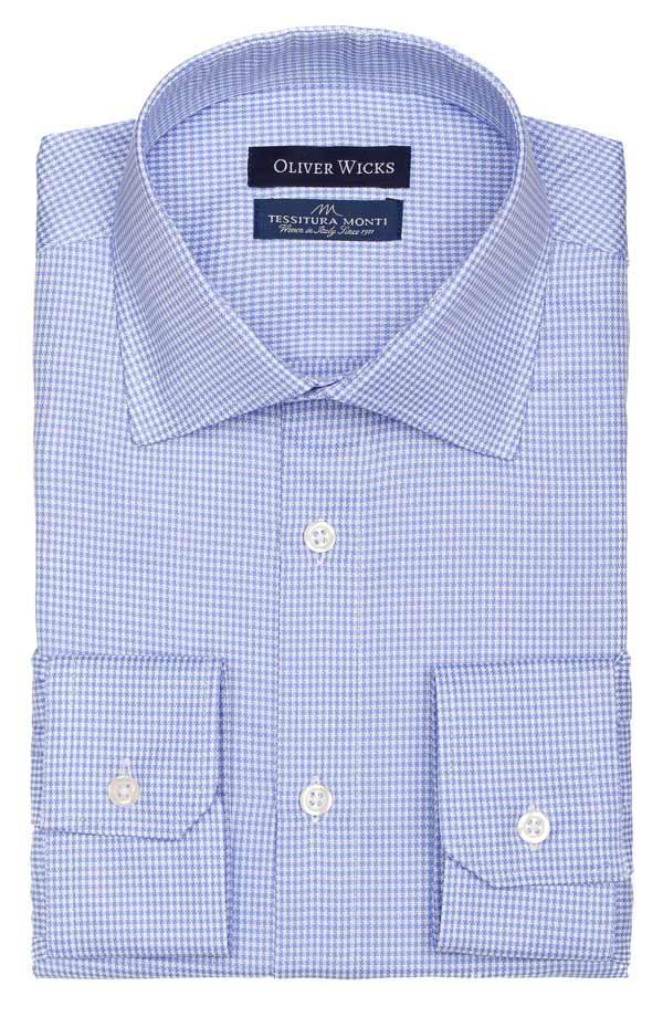 Blue Houndstooth Royal Oxford Shirt