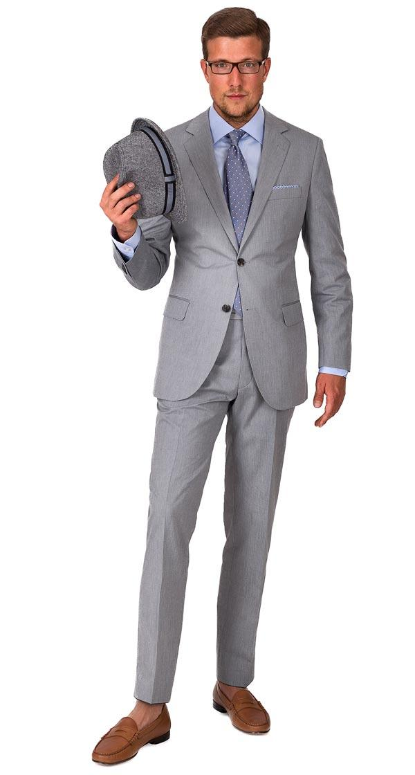THE W. Suit in Grey Cotton