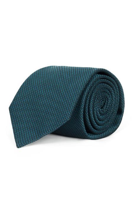 Teal Blue Mogador Silk Tie