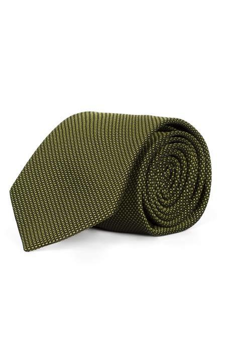 Olive Green Mogador Silk Tie
