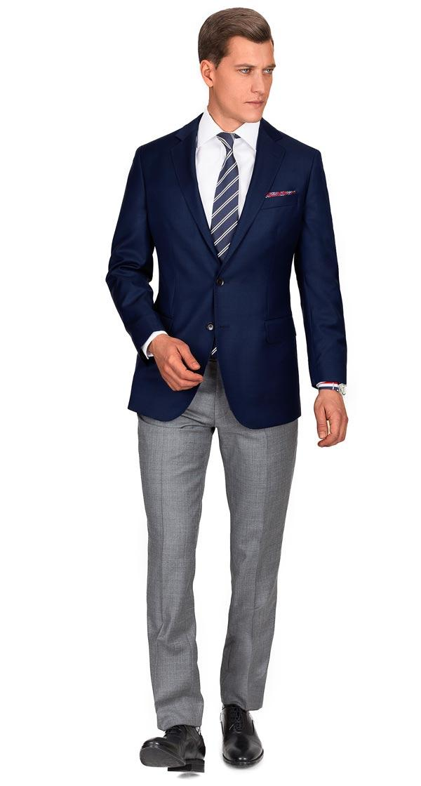 Navy Blue Pick & Pick Blazer