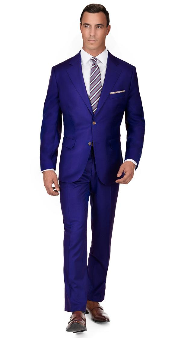 Royal Blue Twill Suit