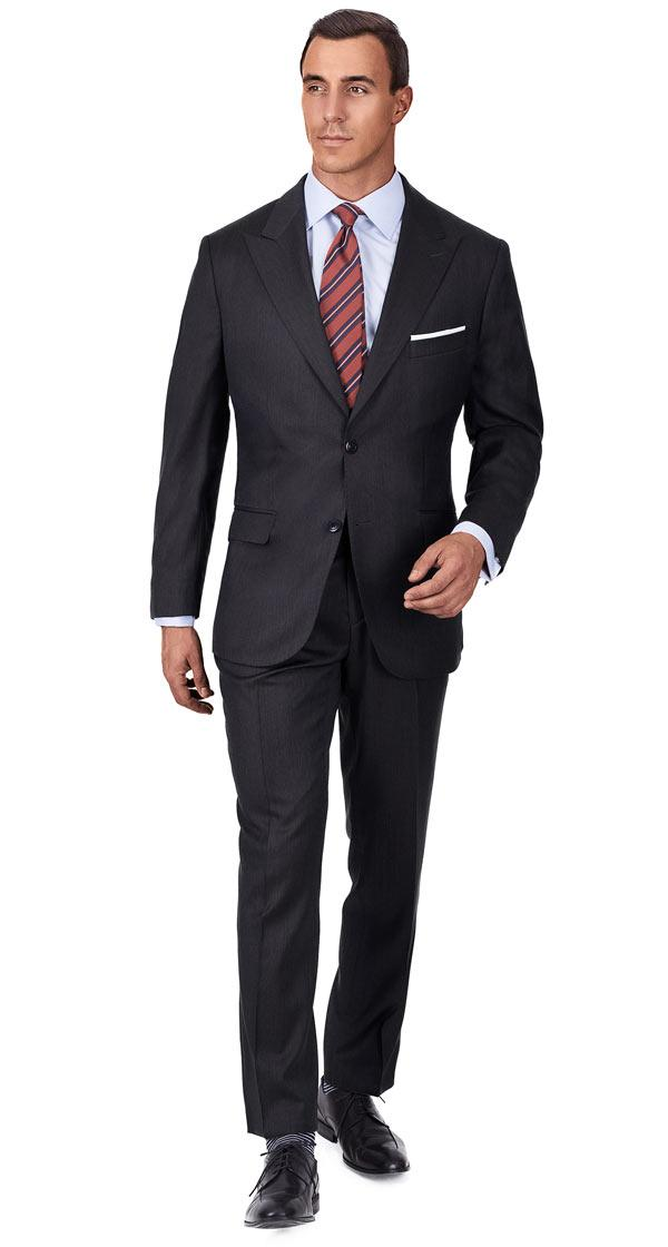 Premium Dark Grey Wool & Silk Suit