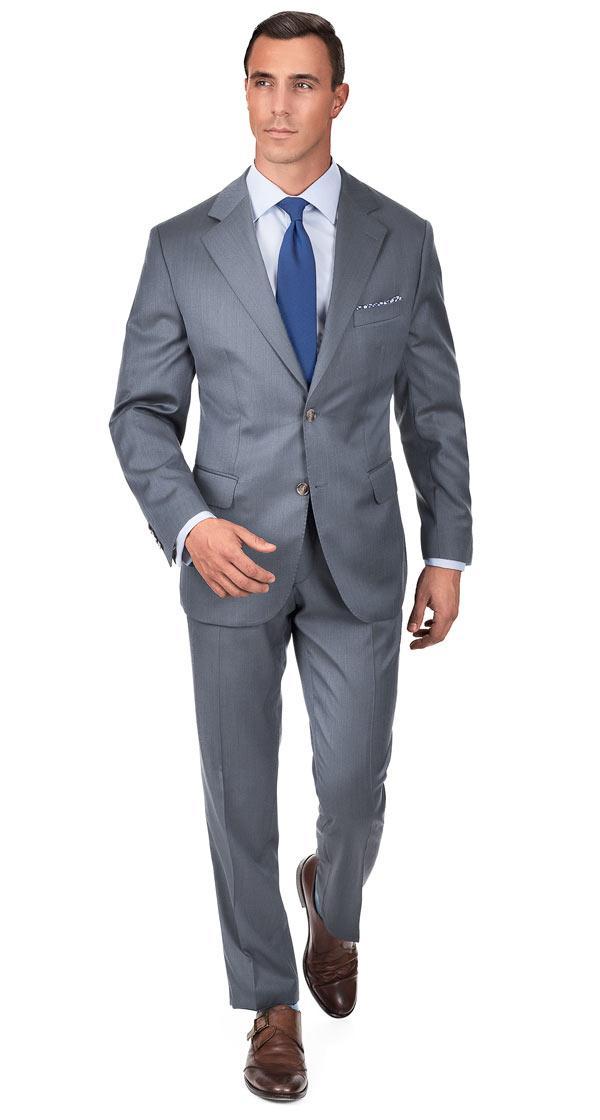 Grey Wool & Silk Suit