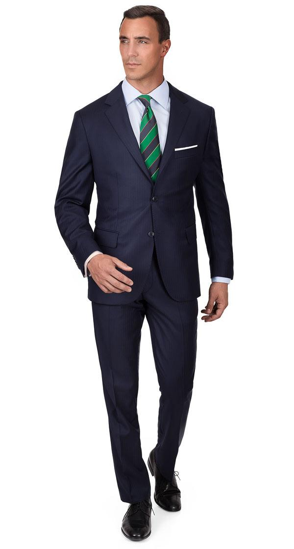 Blue Stripe Navy Suit