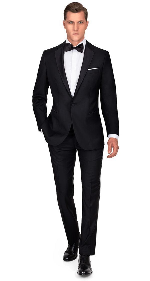 THE W. Tuxedo in Black Wool