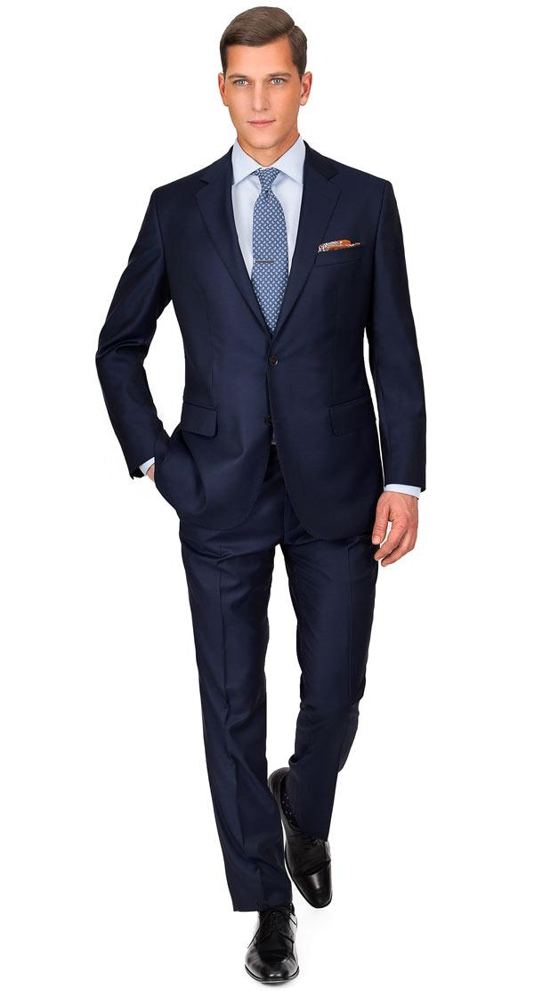 THE W. Suit in Solid Deep Blue Wool