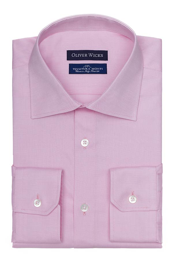 Pastel Pink Two-Ply Pinpoint Oxford Shirt