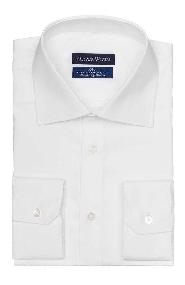 White Cotton Twill Shirt