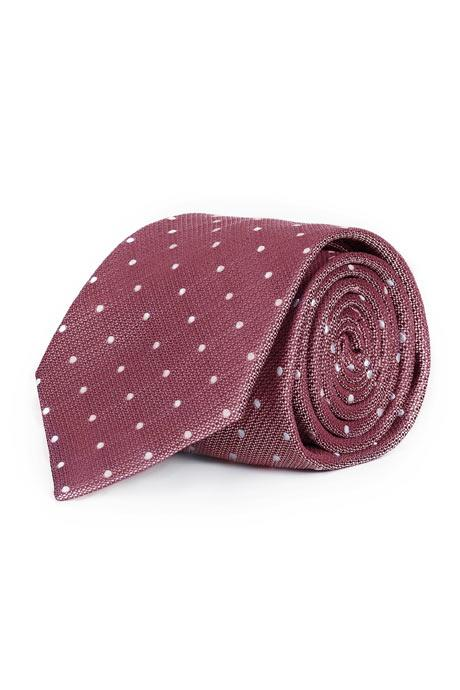 Pastel Red Dotted Italian 100% Silk Tie
