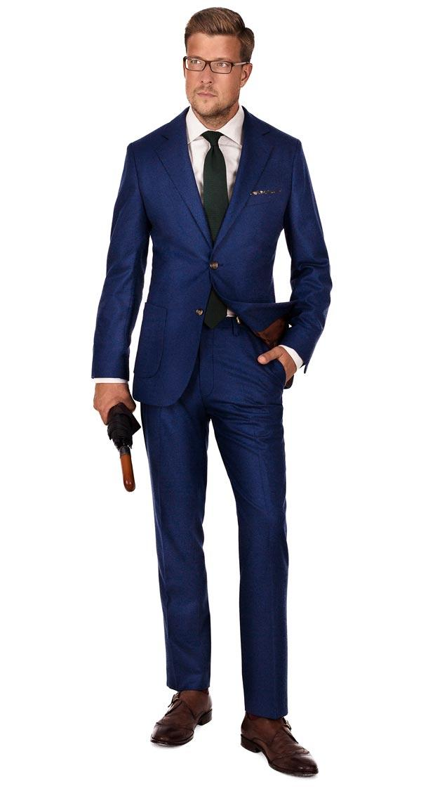 Royal Blue Wool Flannel Suit