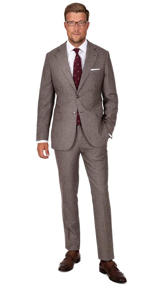 Light Brown Wool & Cashmere Suit
