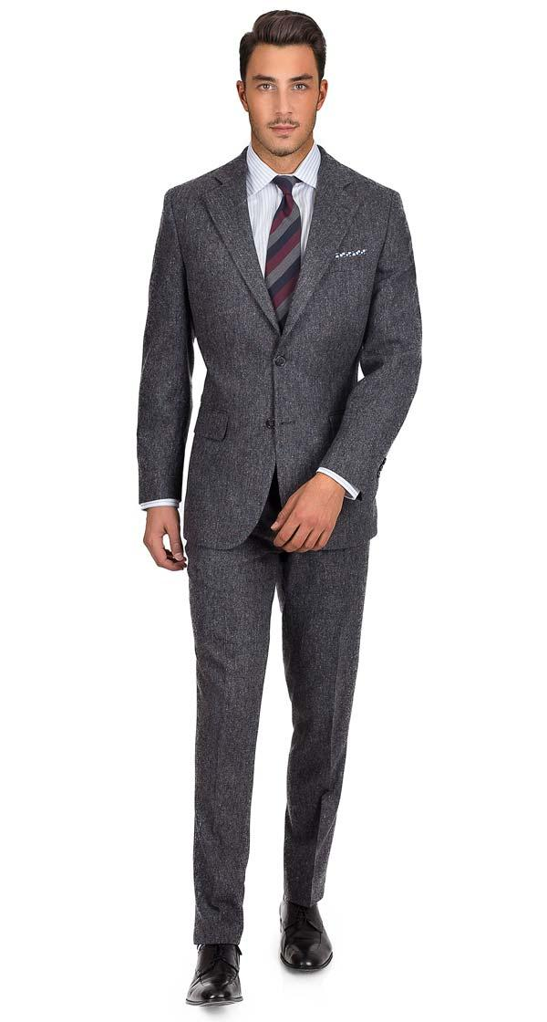 Dark Grey Donegal Tweed Suit