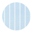 100% Two-Ply White Striped Blue Pinpoint Oxford