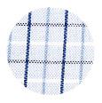 100% Two-Ply Blue Checked Blue Cotton