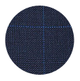 100% Super 140s Navy Plaid Wool (Italy)