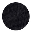 100% Super 140s Black Herringbone Wool (Italy)