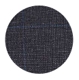 100% Super 140s Premium Charcoal Plaid Wool (Italy)