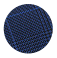 100% Super 150s Blue Plaid Blue Overcheck Wool (Italy)