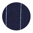 100% Super 110s Navy Chalkstripe Wool (UK)