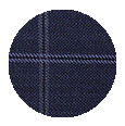 100% Super 150s Navy Check Wool (Italy)