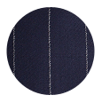 100% Super 150s Chalkstripe Navy Wool (Italy)