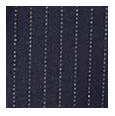 100% Super 140s Premium Navy Pinstripe Wool (Italy)
