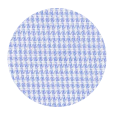 100% Two-Ply Blue Houndstooth Royal Oxford