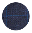100% Super 110s Blue Tonal Check Wool (Italy)