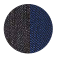 Deep Blue Wool and Silk (Italy)