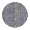 100% Super 160s Blue Stripe Grey Wool (Italy)