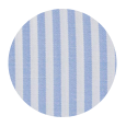 100% Two-Ply Light Blue Striped Pinpoint Cotton Oxford