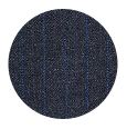 100% Super 110s Blue Stripe Charcoal Wool (Italy)
