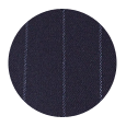 100% Super 110s Navy Chalkstripe Wool (Italy)