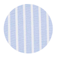 100% Two-Ply White Stripe Blue Cotton