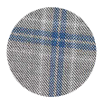 100% Super 150s Blue Check Grey Wool (Italy)
