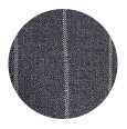 100% Super 150s Grey Wide Chalkstripe Wool (Italy)