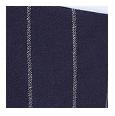 100% Super 150s Navy Wide Chalkstripe Wool (Italy)