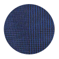 100% Super 150s Fine Navy Plaid Wool (Italy)