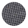 100% Extrafine Dark Grey Houndstooth Wool (UK)