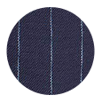 100% Super 120s Navy Pinstripe Wool (UK)