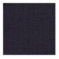 100% Super 140s Premium Fine Herringbone Navy Wool (Italy)