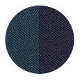 Navy / Green Wool and Silk (Italy)