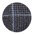 100% Super 120s Grey Plaid Wool (Italy)