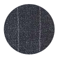 100% Super 110s Charcoal Chalkstripe Wool (Italy)