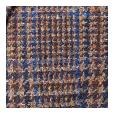 100% Brown Plaid Shetland Tweed Wool (Italy)