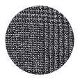 100% Extrafine Charcoal Plaid Wool (UK)