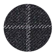 100% Super 110s Charcoal Check Wool (Italy)