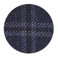 100% Super 110s Navy Fine Check Wool (Italy)